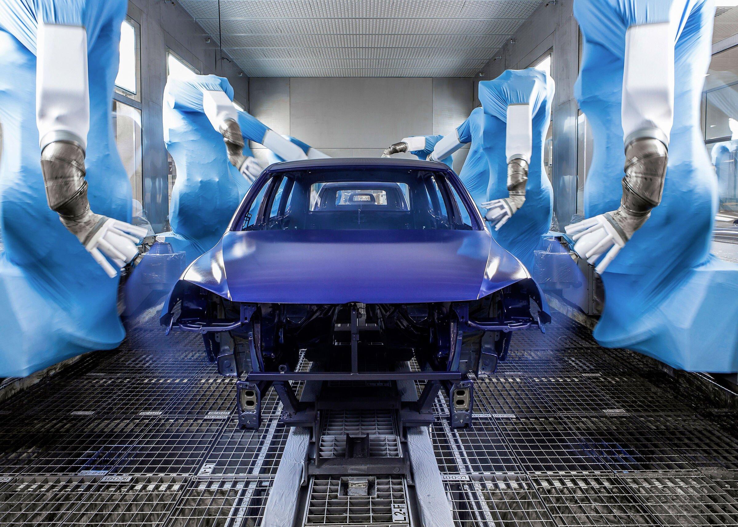 Prosjekt «Lakk og tørk»: I Hannover monterte Volkswagen en lastavhengig volumstrømregulator.